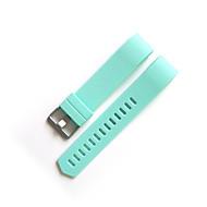Rood / Zwart / Wit / Groen / Blauw / Bruin / Grijs / Paars / roze Fluorelastomeer Moderne gesp Voor Fitbit Horloge 20mm