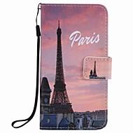Til Samsung Galaxy A5 (2016) A3 (2016) Cover til Eiffel Tower Painting PU-taske