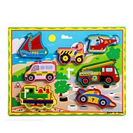 Jigsaw Puzzle Fejlesztő játék / Fejtörő Építőkockák DIY játékok Vonat / Autó / Hintó / Motorkerékpár / Busz / Truck 8 Fa Szivárvány Hobbi