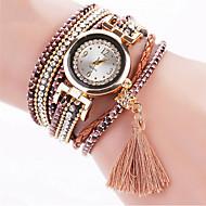 Dames Modieus horloge Polshorloge Armbandhorloge Kwarts Kleurrijk imitatie Diamond Strass PU BandVintage Bohémien Bedeltjes Bangle