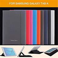 إلى حالة سامسونج غالاكسي مع حامل / قلب / مغناطيس غطاء كامل الجسم غطاء لون صلب جلد اصطناعي Samsung Tab A 9.7 / Tab A 8.0