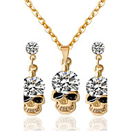 여성 모조 다이아몬드 의상 보석 1 목걸이 1 쌍의 귀걸이 제품 파티 일상 캐쥬얼 결혼 선물