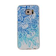 Mert Minta Case Hátlap Case Csipke dizájn Puha TPU mert Samsung S7 edge / S7 / S6 edge / S6 / S5 / S4