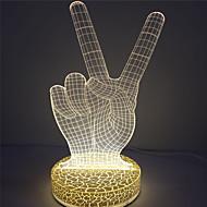 מנורה לבן צבע חם מכירת 3D אפקט אקריליק הלילה חם