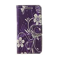 Varten Lomapkko / Korttikotelo / Tuella / Flip Etui Kokonaan peittävä Etui Kukka Pehmeä Tekonahka varten Samsung S Advance / Grand Neo
