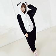 Kigurumi Pijamas Oso Panda Leotardo/Pijama Mono Festival/Celebración Ropa de Noche de los Animales Halloween Negro/BlancoRetazos /