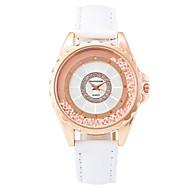 Xu™ 여성용 패션 시계 팔찌 시계 플로팅 크리스탈 시계 석영 PU 밴드 빈티지 캐쥬얼 블랙 화이트 레드 브라운 퍼플