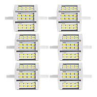 10W R7S LED-valonheittimet Tuubi 24 SMD 5730 880 lm Lämmin valkoinen / Kylmä valkoinen Koristeltu V 6 kpl
