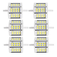 10W R7S LED projektorok Cső 24 SMD 5730 880 lm Meleg fehér / Hideg fehér Dekoratív V 6 db.
