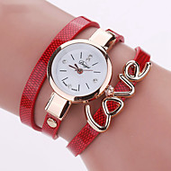 Dames Modieus horloge Polshorloge Armbandhorloge Kwarts Kleurrijk PU BandVintage Heart Shape Snoep Bohémien Bedeltjes Bangle armband Cool