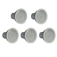 7W GU10 Spot LED MR16 21 SMD 2835 500 lm Blanc Chaud AC 100-240 V 5 pièces