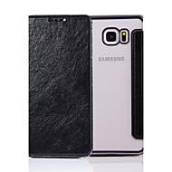 Varten Flip Etui Kokonaan peittävä Etui Yksivärinen Kova Tekonahka varten Samsung Note 5 / Note 4