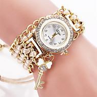 Xu™ 아가씨들 패션 시계 팔찌 시계 석영 섬유 밴드 빈티지 캐쥬얼 블랙 화이트 블루 레드 브라운 그린 핑크