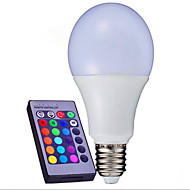 10W AC85-265V E26/E27 / B22 LED Smart Bulbs A80 9 SMD 3014 1100 lm RGB Dimmable / Remote-Controlled / Decorative V 1 pcs
