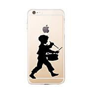 Para Estampada Capinha Capa Traseira Capinha Desenho Macia TPU para AppleiPhone 7 Plus / iPhone 7 / iPhone 6s Plus/6 Plus / iPhone 6s/6 /