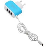 Charge rapide / Ports multi Home Charger / Chargeur de portable Prise EU 3 ports USB avec câble pour téléphone portable(5V , 3.1A)