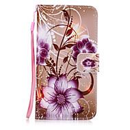 Για Θήκες Καλύμματα Πορτοφόλι Θήκη καρτών με βάση στήριξης Πίσω Κάλυμμα tok Λουλούδι Σκληρή Συνθετικό δέρμα για SamsungA5 (2017) A3