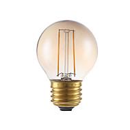 2W E26 LED Filament Bulbs G16.5 2 COB 160 lm Amber Dimmable 120V 1 pcs