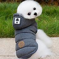 犬用品 コート パーカー ベスト 犬用ウェア 冬 春/秋 ゼブラプリント ファッション 保温 グレー ブルー