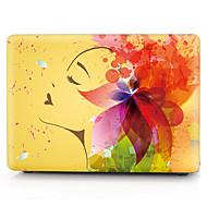 caja de la computadora patrón macbook niña de las flores de color amarillo para el macbook air11 13 PRO13 / / 15 / Pro con retina13 15