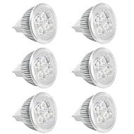 4W GU5.3 (MR16) LED-spotlampen MR16 Krachtige LED 380 lm Warm wit / Koel wit V 6 stuks