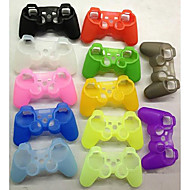 Dual Shock Wireless Bluetooth Game Controller + Button Protector + Silicone Case + Cable for PS3