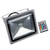 30W RGB vanntett LED projektorer 16 ulike fargetoner med minnefunksjon& fjernkontroll for utendørs hotellhagen