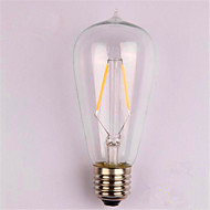 2W E26/E27 LED Filament Bulbs ST58 2 SMD 2835 200 lm Warm White Decorative AC 220-240 V 1 pcs