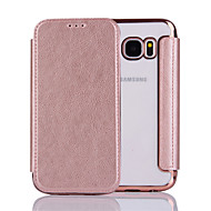For Samsung  Galaxy S6 S6Edge S7 S7Edge Case Cover  Pure Color Elegant Elegant Electroplating TPU Shell After Striae Cell Phone Sets