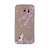 Til samsung galaxy note 5 note 4 cover kirsebær katte malet mønster tpu materiale telefon taske