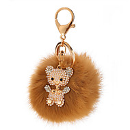 Key Chain Sphere Key Chain Brown Metal / Plush