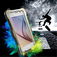 Full Body Rugged Water Resistant Dirt Shockproof Drop Iron Metal Three Anti-Cell Phone Shell for Samsung Galaxy S6