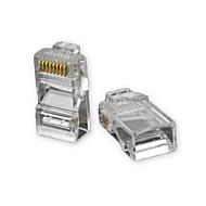 RJ45 8pin ABS Plug Modular Connector trasparenti 50 PCS
