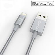 iqunix® MFI certyfikowany kabel odgromowej dla iPhone z metalu pokryte portu i plecionego drutu