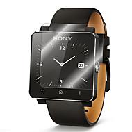 2 paquetes de vidrio de alta calidad 0.2mm película verdadera templado protector de pantalla de vidrio de reloj inteligente Sony sw2