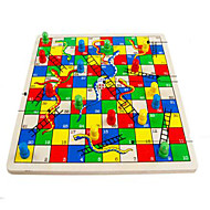 Board Game / Chess Game / Educational Toy For Gift  Building Blocks Leisure Hobby Circular / Square Wood 2 to 4 Years Rainbow Toys