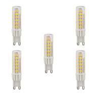 5W G9 Двухштырьковые LED лампы T 75 SMD 2835 470-490 lm Тёплый белый Холодный белый Водонепроницаемый AC 220-240 V 5 шт.