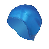 Swim Caps Unisex silicone Red  Yellow  Blue  Black  White  Silvery