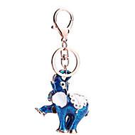 Key Chain Elephant Key Chain Red / Blue / Orange Metal