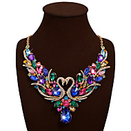 Necklace Statement Necklaces Jewelry Wedding Party Birthday Daily Valentine Swan Bohemia Fashion Vintage Alloy Rhinestone Women 1pc Gift