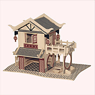 Jigsaw Puzzles Wooden Puzzles Building Blocks DIY Toys Ling Ming Hin Teahouse 1 Wood Ivory Model & Building Toy