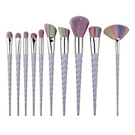 10pcs Makeup Brushes Unicorn Thread Cosmetic Screw Set Synthetic Hair Travel Full Coverage Portable
