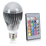 led rgb izzó e27 / e26 8w 850lm távirányító színváltó 16 színes lámpa 85-265v