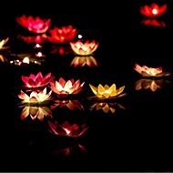 생일 촛불 램프 물 랜턴 웨딩 장식 ramdon 색상을 떠 램프 봉헌 촛불을 희망하는 발렌타인 데이 선물 연꽃