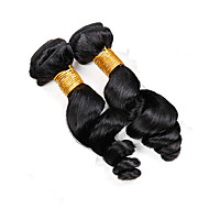 Vinsteen 2 Pieces 200g Same Size Natural Color 8A 100% Unprocessed Dyeable Real Human Hair Extensions Loose Wave Hair weaves Bundles Can Be Restyled