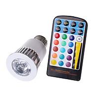 5W E26/E27 LED-spotlampen MR16 1 COB 450 lm RGB Dimbaar Op afstand bedienbaar Decoratief Waterbestendig AC 85-265 V 1 stuks