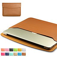 For MacBook Air / Pro 11.6'' 13.3  15.4'' Simple Leisure Style Notebook Bag Solid Color PU Laptop Sleeves Universal
