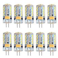 5W G4 LED Φώτα με 2 pin T 57 SMD 3014 300 lm Θερμό Λευκό Ψυχρό Λευκό Με Ροοστάτη AC 12 V 10 τμχ
