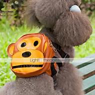 개 배낭 브라운 강아지 의류 여름 만화 귀여운