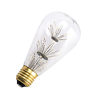 3W E26/E27 LED Filament Bulbs ST64 47 SMD 300 lm Warm White Decorative AC 220-240 V 1 pcs